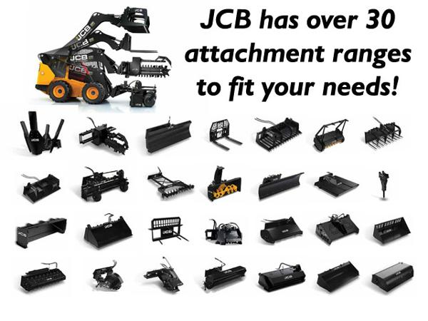 JCB has over 30 attachment ranges to fit your needs for every job.