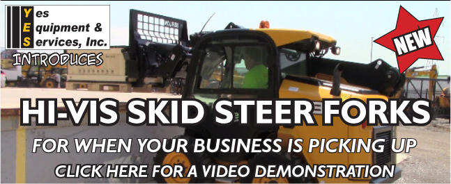 Click Here for YES HI-VIS Skid Steer Forks